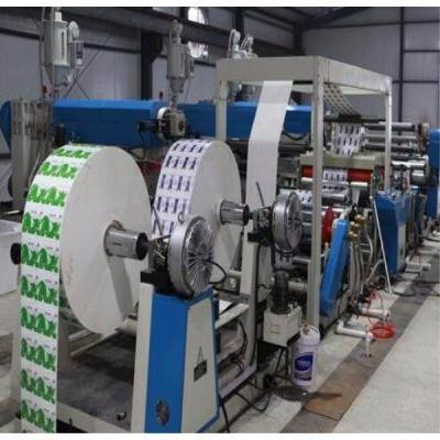 Working method of laminating machine